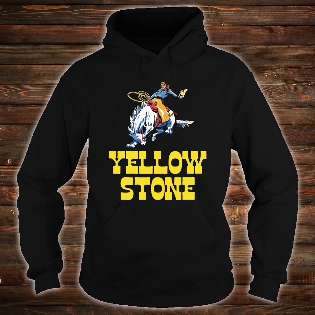 Yellowstone National Park Cowboy & Horse Vintage Shirt hoodie