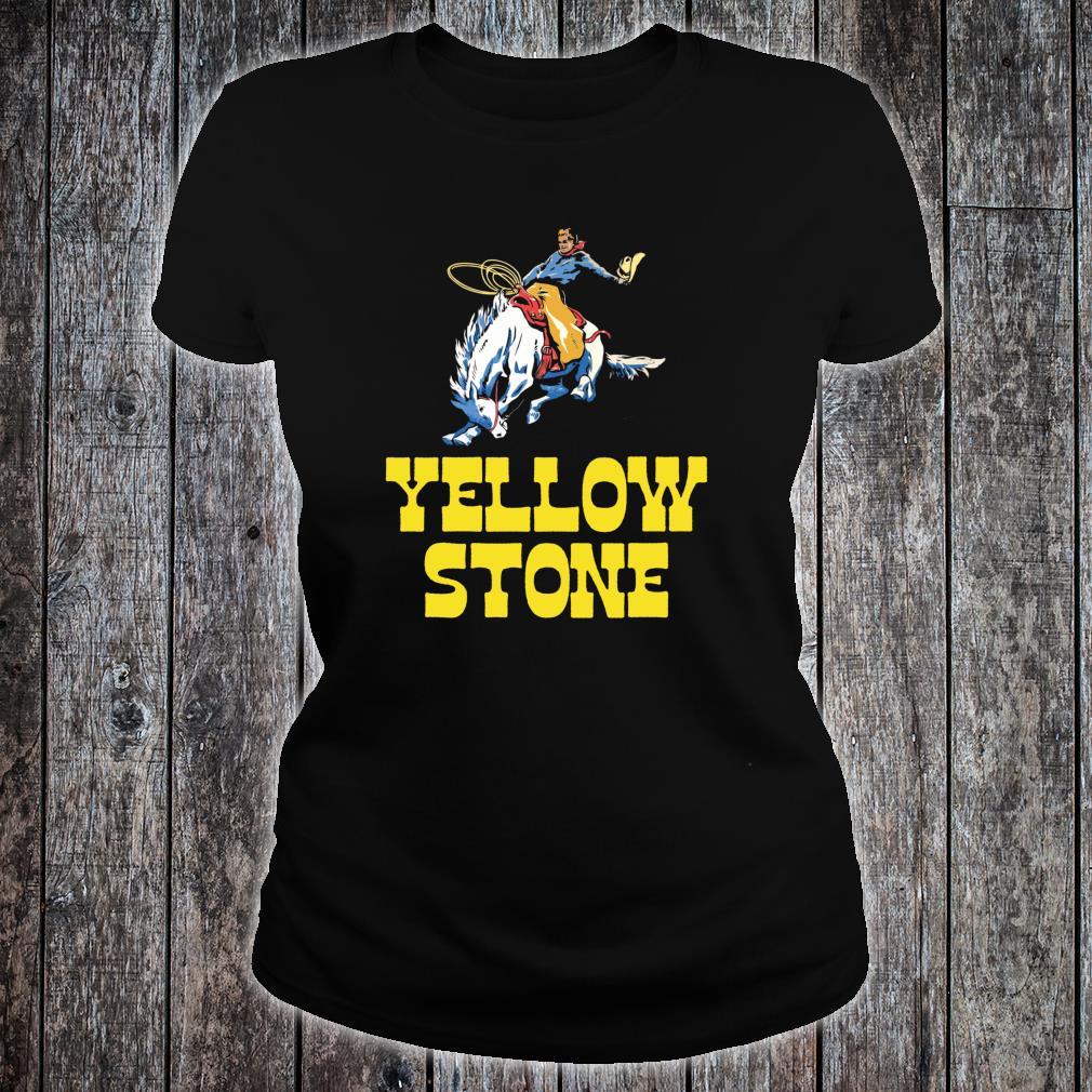 Yellowstone National Park Cowboy & Horse Vintage Shirt ladies tee