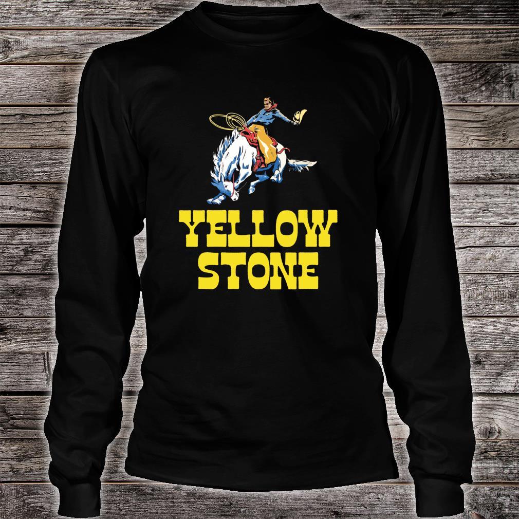 Yellowstone National Park Cowboy & Horse Vintage Shirt long sleeved