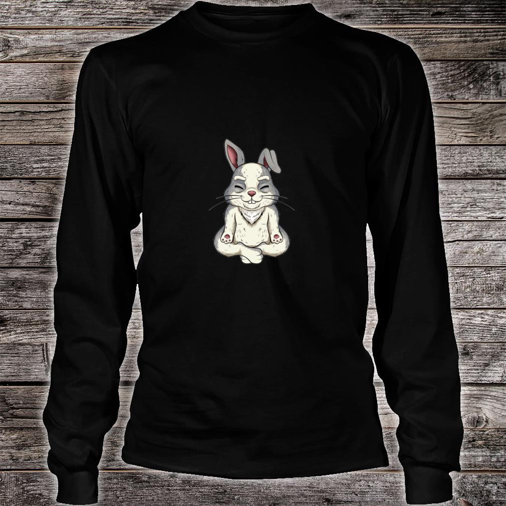 Yoga bunny rabbit Shirt long sleeved