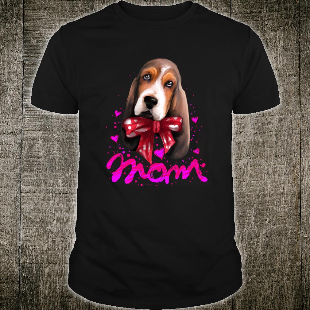 niedlicher Bluthund Mom Geschenk Bluthund Shirt